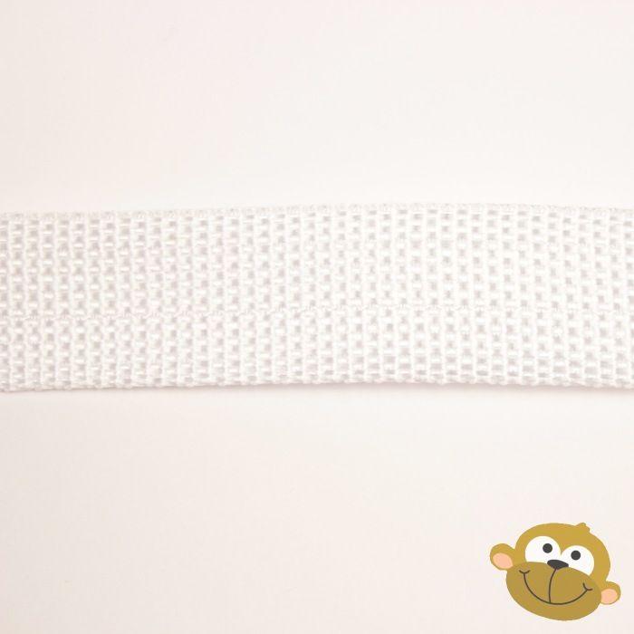 Tassenband Wit 25 mm
