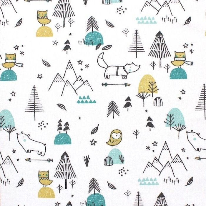 Forest Life In White Tricot