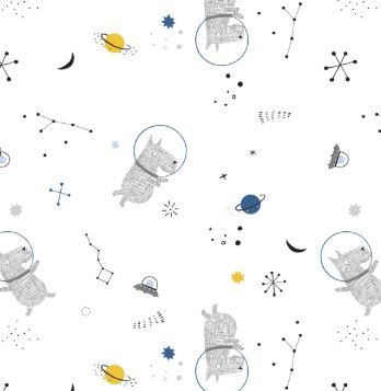 Cosmos In White Popline Katoen