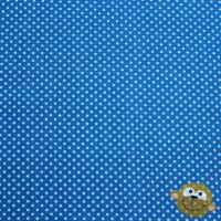 Stof Katoen Mini Stippen 2mm Turquoiseblauw