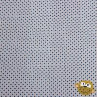 Stof Katoen Mini Stippen 2mm Wit Turquoise