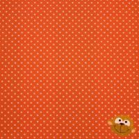 Stof Katoen Mini Stippen 2mm Oranje