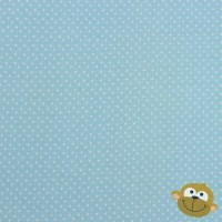 Witte Mini Stippen 1 mm Light Blue Tricot
