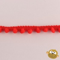 Bolletjesband 5mm Rood