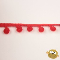Bolletjesband 7 mm Rood