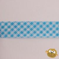 Biaislint Blauw Ruitjes 20mm