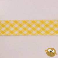 Biaislint Geel Ruitjes 20 mm