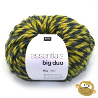 Breiwol Essentials Big Duo 50g Grey Melange Pistache