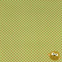 Fuchsia Mini Stippen (2mm) In Limoengroen Katoen