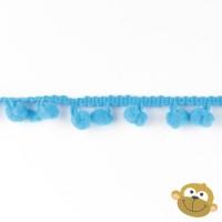 Bolletjesband 7 mm Turquoise