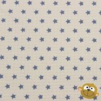 Wafelbadstof Wit Met Blauwe Sterren