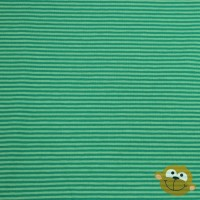Small Dark Green Stripes In Lime Tricot