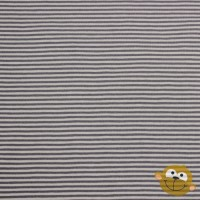 Small Dark Grey Stripes In Light Grey  Tricot