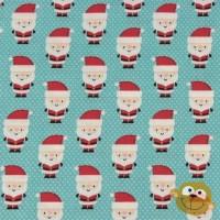Santa Claus  In Blue Katoen
