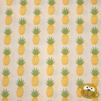 Fresh Market Pineapple  In White Katoen