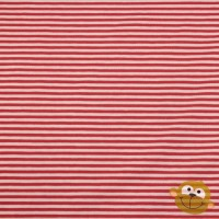 Small Red Stripes In White Tricot