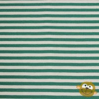 Big Green Stripes In White Tricot
