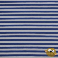 Big Cobalt Blue Stripes In White Tricot