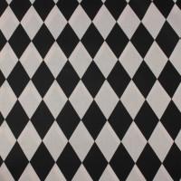 Black Harlequin Squares In Black & White Katoen