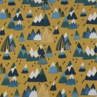 Scandinavian Mountains In Mustard  SweatTricot