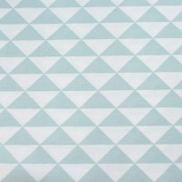 Mint Triangles In White  Canvaskatoen
