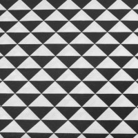 Black Triangles In White  Canvaskatoen