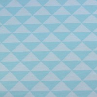 Turquoise Triangles In Soft Pastel Blue  Canvaskatoen