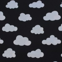 White Clouds  In Black  Canvaskatoen