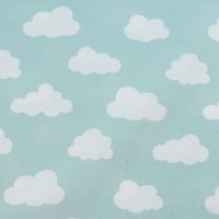 White Clouds  In Mint Canvaskatoen