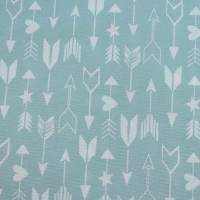 White Arrows  In Mint Canvaskatoen