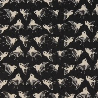 Birds  In Black Recyced PolyesterTricot