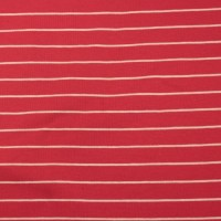 White  Stripes  In Bright Red Tricot