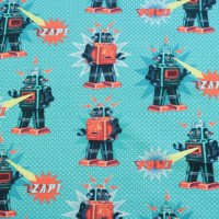 Robots  In Green Sweattricot