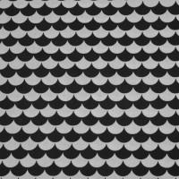 Black Flakes  In White Katoen