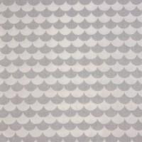 Grey Flakes  In White Katoen