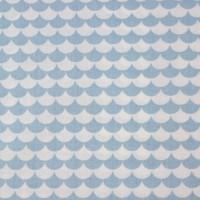 Blue Flakes  In White Katoen