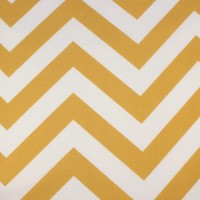 Big Ochre Chevron In White Katoen
