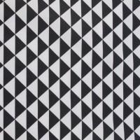Little Black Triangle  In White Katoen
