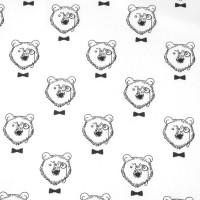 Monsieur Bear  In White Katoen