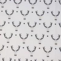 Oh Deer  In White Katoen