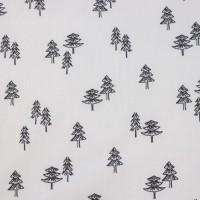 Pineapple Trees  In White Katoen