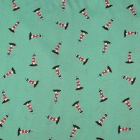 Lighthouses In Mint  Viscose