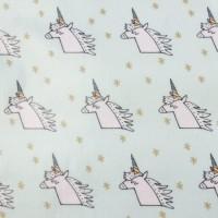 Unicorns In Mint Coated Katoen
