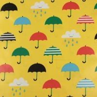 Singin' In The Rain In Yellow Laminated Katoen
