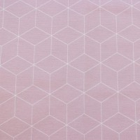 Thin White Skew Cubes  In Pastel Pink Canvaskatoen