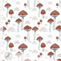 Amanita Mushrooms In Offwhite Tricot