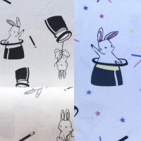 Bunnies In White Magic Tricot (change)