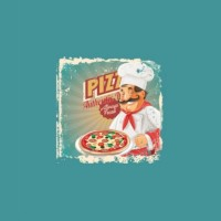 Pizza And Baker Panel In Digital Tricot