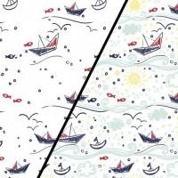 Boats  In White Magic Tricot (change) PRE-ORDER