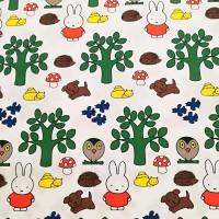 Nijntje/Miffy In Het Bos In White Katoen